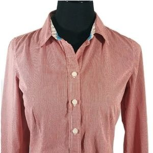 Old Navy Tops - Old Navy Red/White Button Down Top
